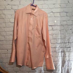 Michael Kors men's coral/white button down shirt